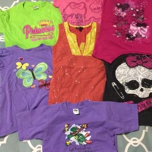 Lot of Girls T-shirts Size Small